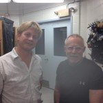 Hannes Baumann and Paul Grecay at the University of Delaware lab in Edgewater (DL).