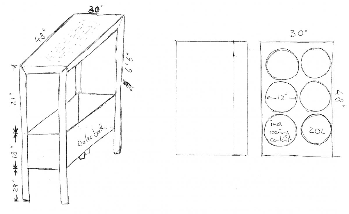 Early in November 2014, the first sketches of a rearing unit prototype started to go to the machine shop ...